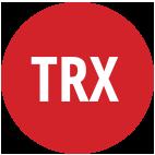 סמליל עגול בצבע אדום עם כיתוב Trx