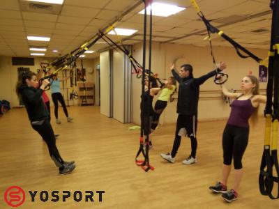 אימון trx, כל ההתנגדות היא ממשקל הגוף