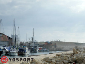 Old Jaffa Port- Facing Bat Yam